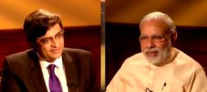 Arnab Goswami with Narendra Modi