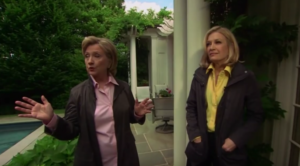 Diane Sawyer with Hilary Clinton